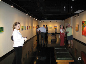 Viewers at the exhibition
